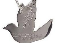 """Lavaggi"" spirit dove sterling silver necklace and"