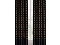 This warm and welcoming two panel curtain set will