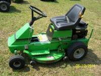 This is a nice rear engine riding mower that is very