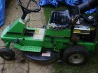 Good running lawn tractor with complete bagger set. Has