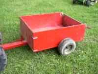 Lawn cart bed is four feet long and two feet ten inches