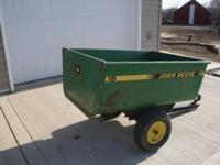 John Deere Model 15 Heavy Duty Lawn Trailer All Metal
