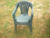 I have 10 green lawn chairs for sale all 10 of them for