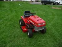 12.5 hp 39 in riding mower always professionally