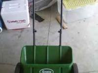 I have a lawn fertilizer for sale. I used it once since