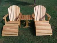 custom built adirondack furniture ,full size and