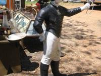 LAWN JOCKEY 1930/40's-HITCHING BLOG POST JOCKEY !!