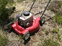 Lawn mower. $10. Got it from a friend and does not