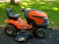 09 husqavarna 2348 riding mower just recently serviced