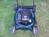 Lawn mower for sale as is runs needs back weel fixs and