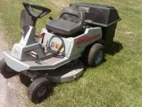 This is a very nice craftmans lawn mower with a bagger
