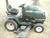 sears 50; cut 20 h p, kohler engine , just serviced ,