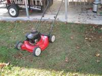"the mower is in good shape it has a new 20"" blade call"