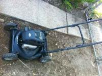 I have a black lawn mower great condition , really