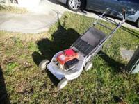 lawn mower is in very good conditions, starts so