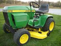 John Deere 210 lawn and garden tractor w/46'' mower