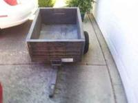 Rubbermaid lawn mower trailer. Very good condition.