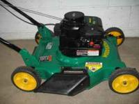 THIS IS A LIKE NEW ONLY USED COUPLE TIMES 4.5 HP 20