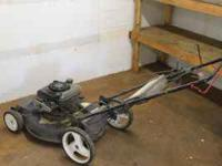 LAWN MOWER WITH BAG $125 CRAFTSMAN NEW BLADE, WEEDEATER