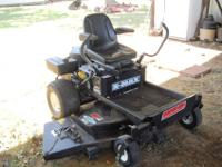 Zero turn lawn mower, 26 HP Briggs stratton engine, 385