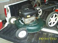 Several push type lawn mowers for sale prices stat at