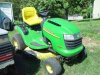 John Deere Riding Lawn Mower - L100 17 hp 5 speed 42""