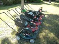 I have several new and like new lawn mowers and other