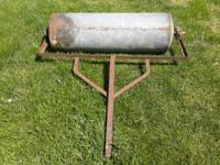 Nice homemade lawn roller for sale. $25 call or text