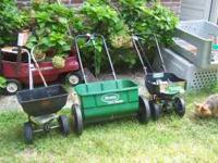 I have three lawn spreaders for sale. If interested in