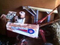 Longlife tiller, runs good $80.. Lawn sweeper $60.