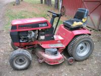 "Good little lawn tractor, 14hp, hydro drive, 38"", cut,"