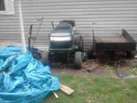 "I have a crafstman 6 speed 46"" mower with a 48"" dozer"