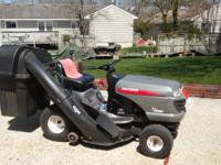 "2005 SEARS CRAFTSMAN 18.5 HP, 42"" MOWER. ELECTRIC START"