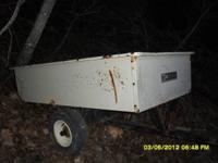 heavy duty lawn trailer pull behind 4-wheeler or lawn