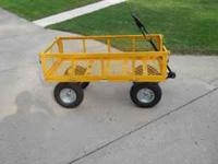 Lawn/garden wagon like new condition $50.00  Location: