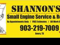 Small Engine Repairs & Service on lawnmowers, tillers,