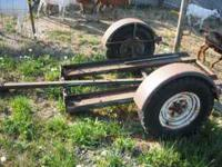 Up for sale is a lawn mower trailer. $75.00 obo.
