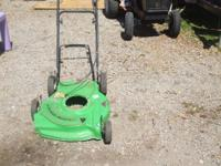 Lawnboy mower deck with cables. $25.  // //]]>