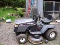 Riding Lawnmower- CRAFTSMAN from Sears, It has been