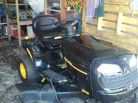 we are saling a poulan riding lawnmower it is 1 and a
