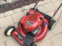 Incredible lawnmower that has been barely used and is