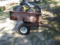 I have for sale a little lawnmower trailer thats
