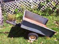 riding lawnmower trailer for sale, needs new tires,