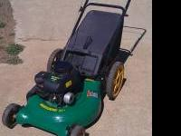 Lawnmower by Weedeater Has Bag Attachment Runs/Starts