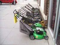 Lawnmowers ready to go! I have several and they start