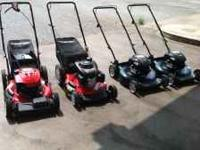 Push LawnMowers starting at $100 & Up. Call Today for