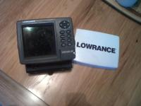 used Lawrance LMS- 522 c i GPS fish finder with lake