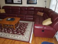Lazy Boy leather sectional with full size hide-a-bed,