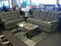 LAZY BOY SOFA & LOVE SEAT WITH 2 RECLINERSMARKED