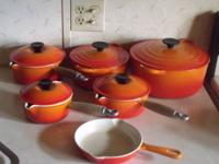 Le Creuset 6 piece Cast Iron Cookware Set in Flame
